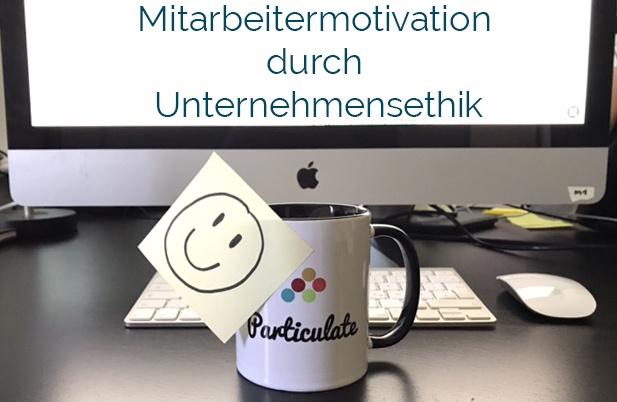 Mitarbeiter motivieren Particulate Tasse mit Smiley